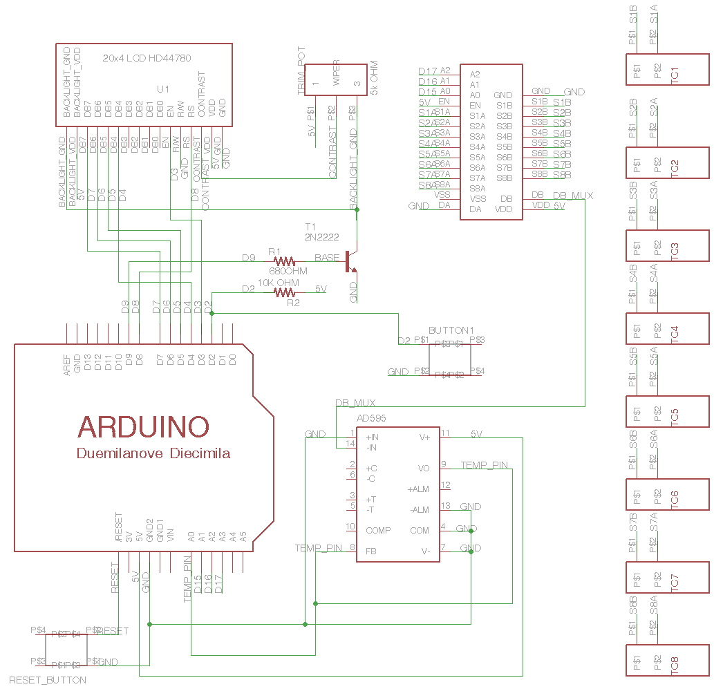 A Thermocouple Datalogger Based On The Arduino Platform Real Time Clock Shield Schematic Eagle For Circuit