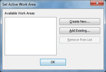 Start by specifying a place to save your working files, settings, and so on.