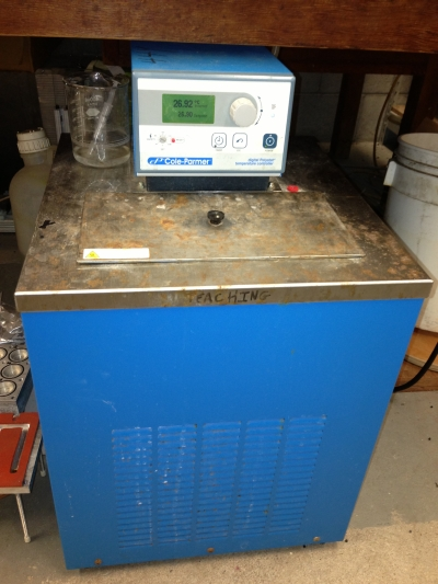 An old Cole-Parmer Digital Polystat water bath.