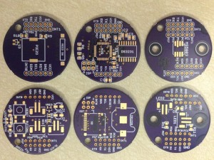 Prototype PCBs produced by OSH Park.
