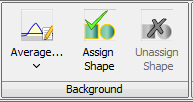 The Background section of the Shapes tab lets you choose how the background correction is done.