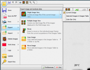 Under the Image Studio icon you'll find options to export your modified image.