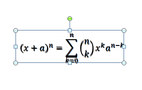 The overlapping equation picture and original equation text.