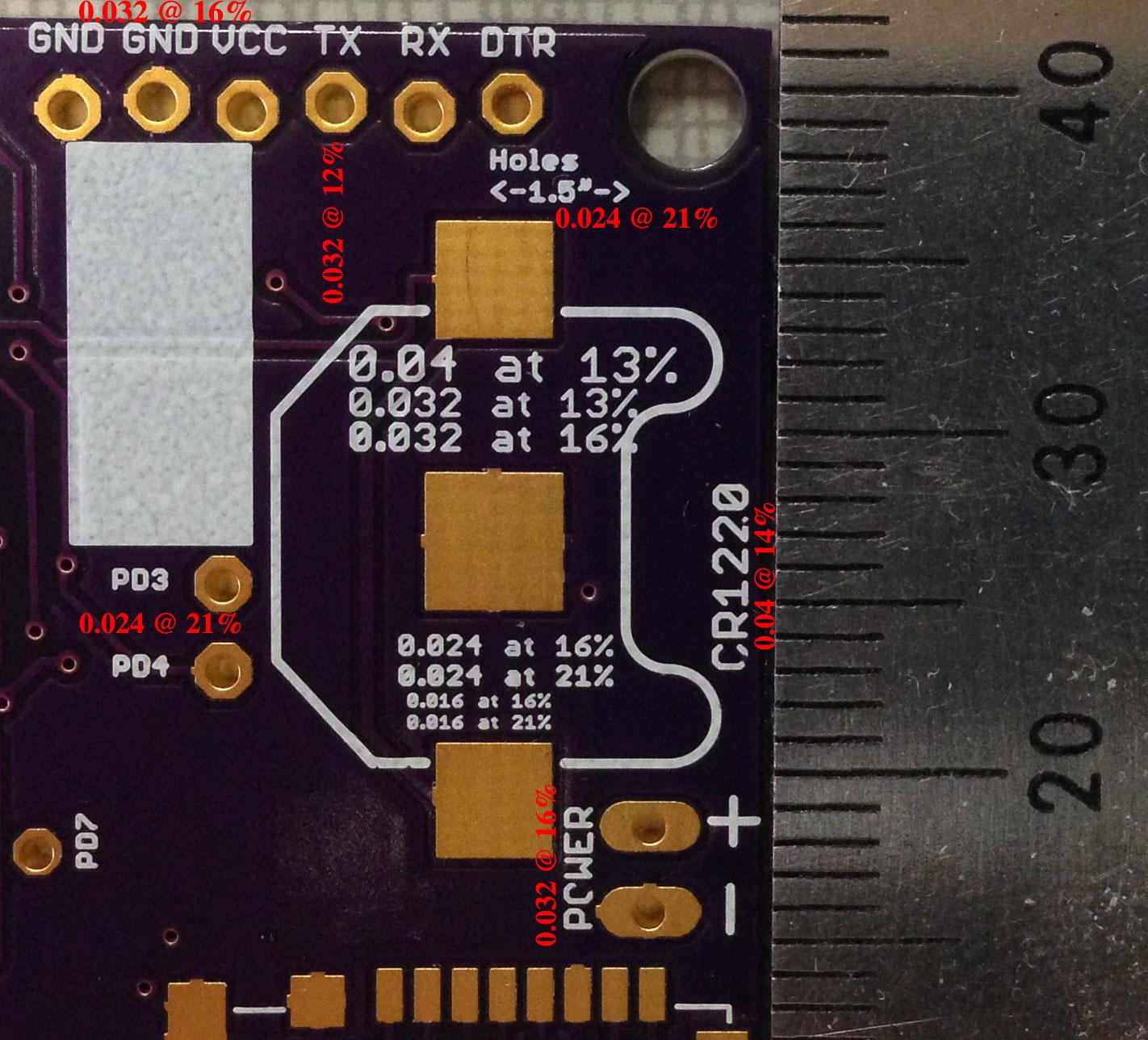 PCB silkscreen sizes   lukemiller org